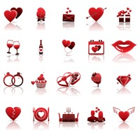 Set of valentine icons