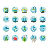 Set of water related icons