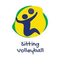 Sitting volleyball icon