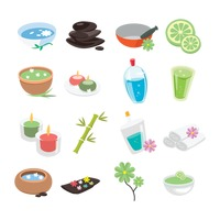 Spa treatment icons