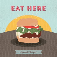 Special burger poster