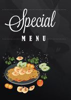 Special menu with copy space