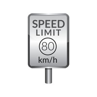Speed limit 80 signboard