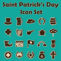 St.patrick's day icon set