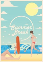 Summer break poster