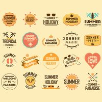 Summer holiday design collection