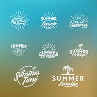 Summer holiday lettering collection