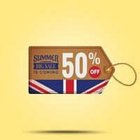 Summer sale offer tag