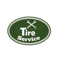 Tire service sign