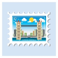 Tower bridge postage stamp