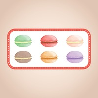 Tray of macarons