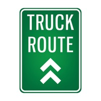 Truck route signboard