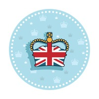 Uk royal crown sticker