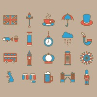 United kingdom general icons