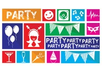 Various party objects