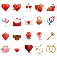 Various valentine related items