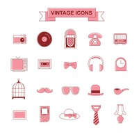 Vintage icons collection
