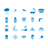 Water related icons set