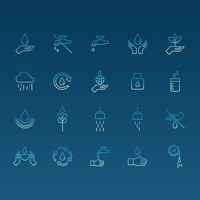 Water themed icons