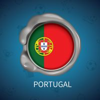 Wax seal of portugal flag