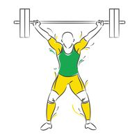 Weightlifter lifting up weights