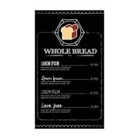 Whole bread menu design