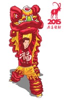 Year of the goat greeting design