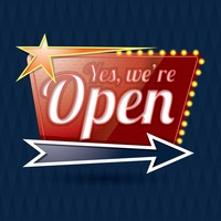 Yes we're open signboard
