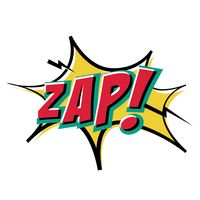 Zap text with comic effect