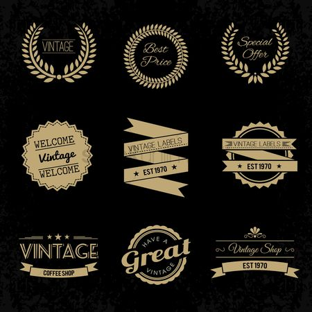 Vintage : A collection of vintage labels