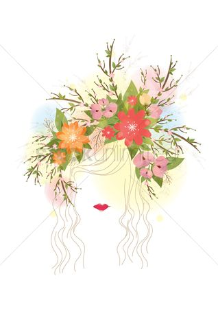 Floral : Abstract woman artwork