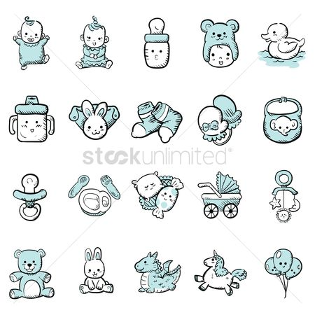 Water : Baby icon set
