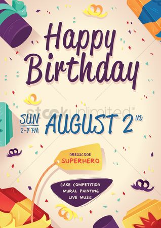 Music : Birthday poster