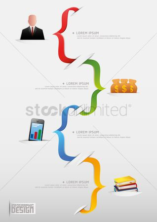 Ribbon : Business infographic