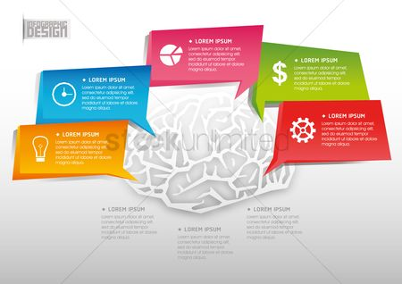 Brain : Business infographic