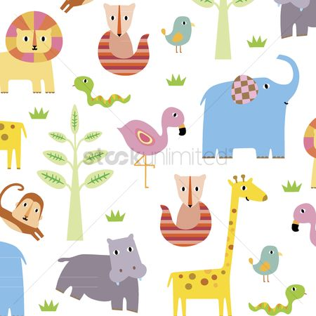 Background : Cartoon animals background