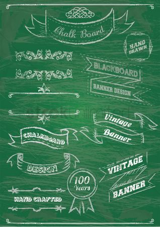 Ribbon : Chalkboard themed designs