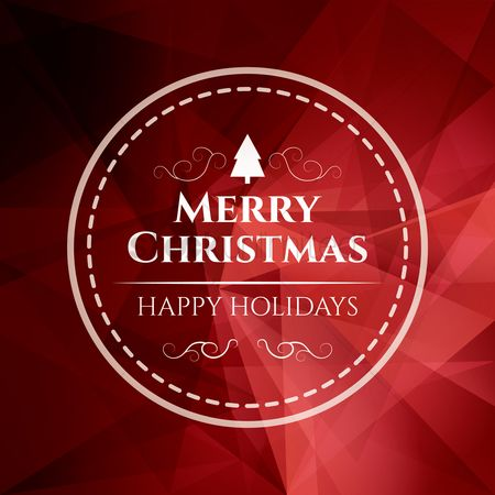 Vectors : Christmas greeting