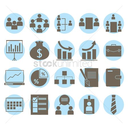 Icons : Collection of business related items