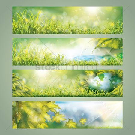 Water : Collection of nature banner designs