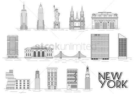 Buildings Landmarks : Collection of new york attractions