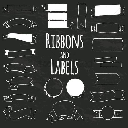 Ribbon : Collection of ribbons and labels