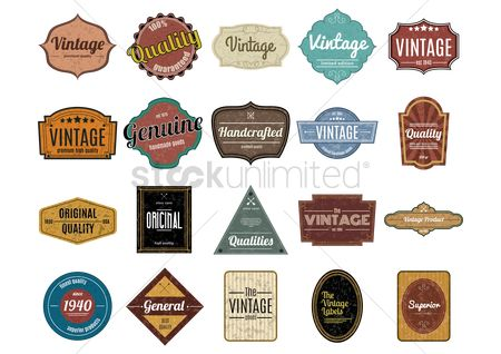 Grunge : Collection of vintage labels