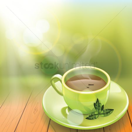 Leaf : Cup of green tea