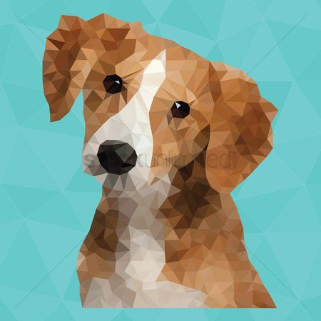 Animal : Cute polygonal dog