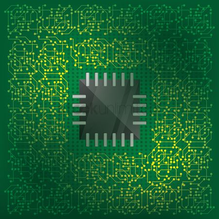 Vectors : Electronic circuit background