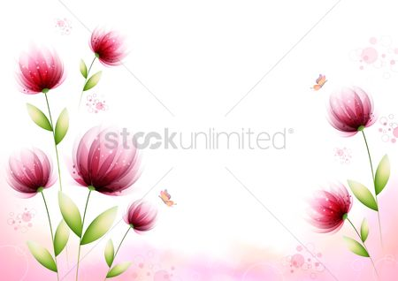 Background : Floral background design