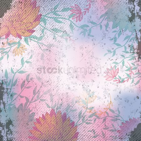 Grunge : Floral background