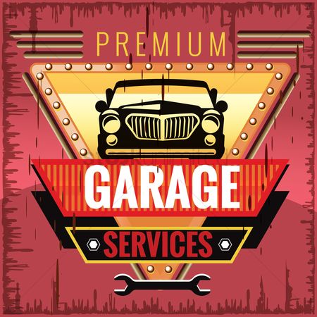 Vintage : Garage services design