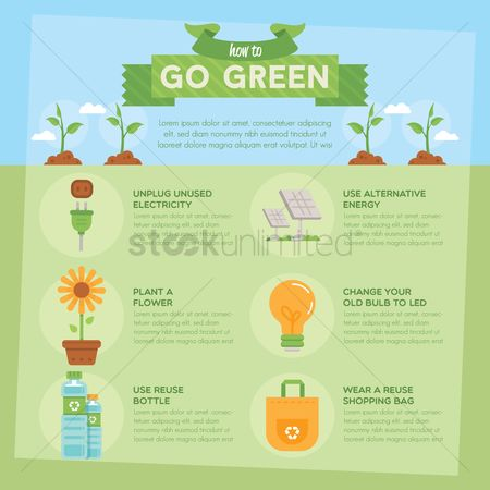Shopping : Go green infographic